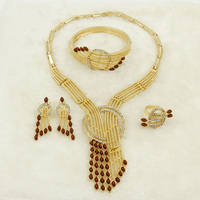 Liffly New Christmas Gift Set Italian Boutique Summer Jewelry Peacock Design Gold Dubai Bride Wedding Party