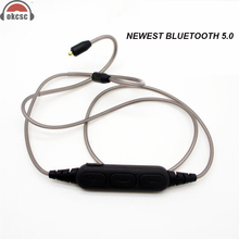 OKCSC DD4 Wireless Bluetooth 5.0 MMCX/IE80 Connector 2Pin 0.78mm Headphone Cable Replacement Audio Cords With Mic for SE535 W80