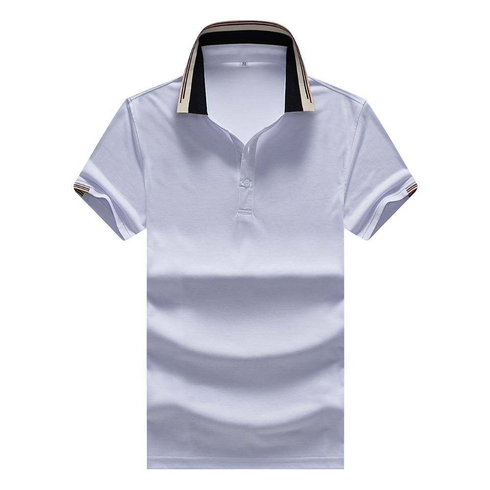 High Quality Tops&Tees Men's Polo shirts Business men brands Polo Shirts striped Turn-down collar mens polo shirt plus size XXXL
