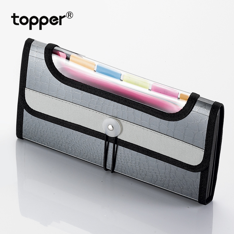 Expanding Wallet A6 File Bag Bill Receipt Business Office File Bag Pouch Folder File Folder Office Supplies