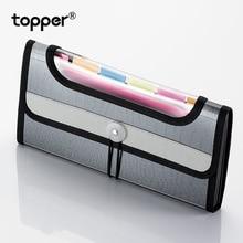Expanding wallet A6 file bag bill receipt business office pouch folder supplies