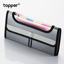 цена на Expanding wallet A6 file bag bill receipt business office file bag pouch folder file folder office supplies