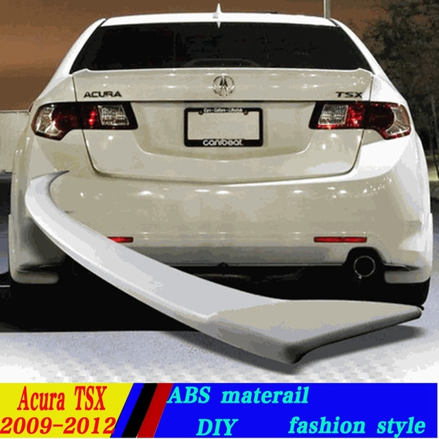 Use For Acura TSX Spoiler TSX Lip Spoiler High Quality ABS - Acura tsx spoiler