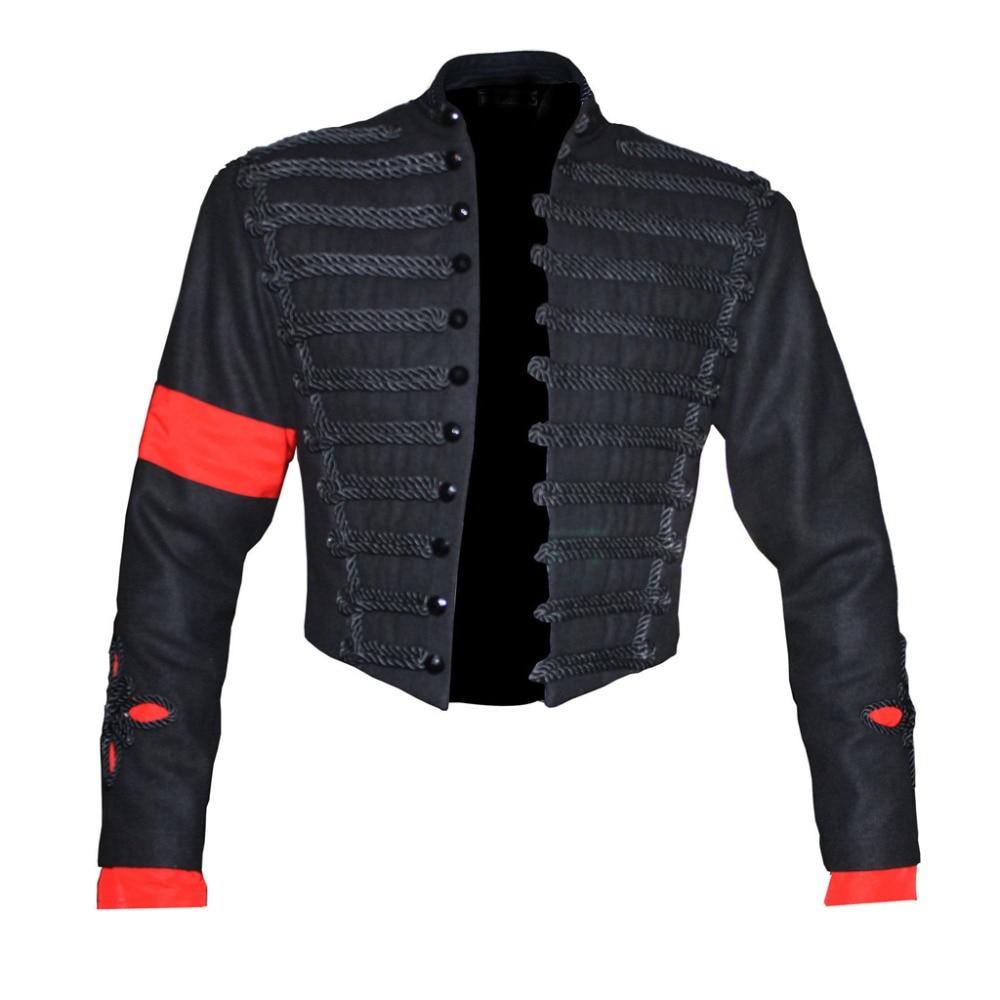 CosplayDiy Unisex Costume Michael Jackson Black Jacket Coat Costume Cosplay for Halloween Cosplay halloween cosplay skeleton style costume black