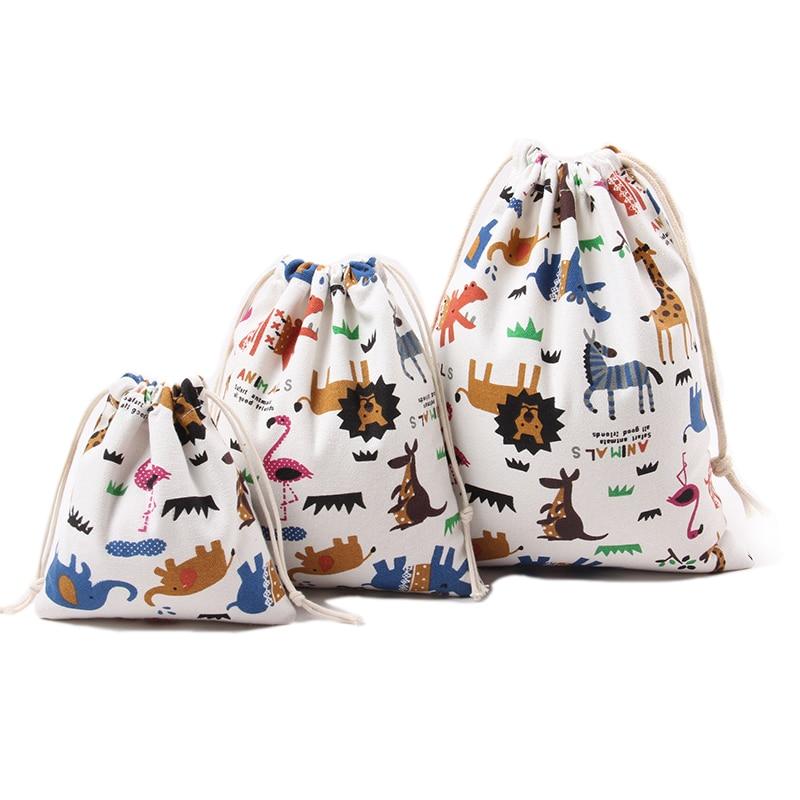Bolsos lindos y lindos de almacenamiento Estampado de algodón con - Organización y almacenamiento en la casa