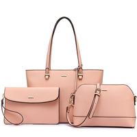 LOVEVOOK women 3 sets handbag women composite bag female large capcity totes fashion shoulder crossbody bag small purse