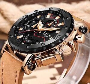 Image 3 - 2020 LIGE Watch Luxury Brand Men Analog Leather Sport Watches Mens Army Military Watch Male Date Quartz Clock Relogio Masculino
