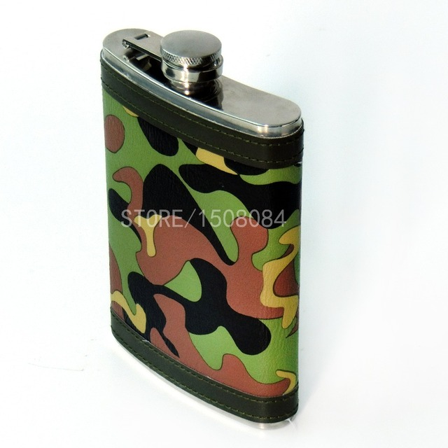 5Pcs Durable Camouflage Wine Pot 9oz Stainless Steel For Drinker Hip Flash Flagon Whiskey Portable Drinkware Cloth Wrapped