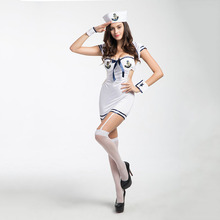 2017 New Women sexy sailor costumes Female White Seaman Fancy Dress sexy Lingerie Navy costumes for Halloween Party sexy uniform