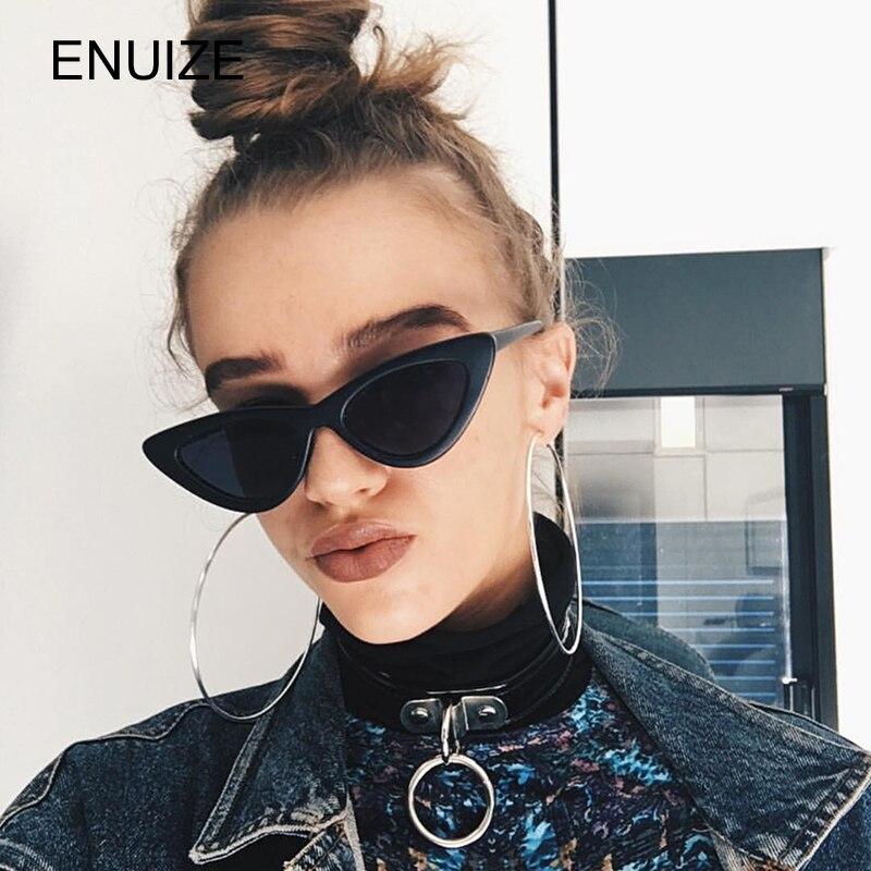Donne Piccolo Gatto Occhio Occhiali Da Sole Rosso Telaio Donne Del Progettista di Marca Delle Signore occhiali da Sole Vintage Sexy Eyewear Shades UV400