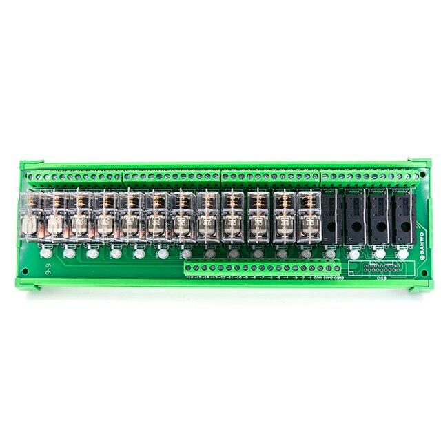 16 канальный релейный модуль OMRON DC 24 В, Плата усилителя PLC, 16 дорожных релейных модулей