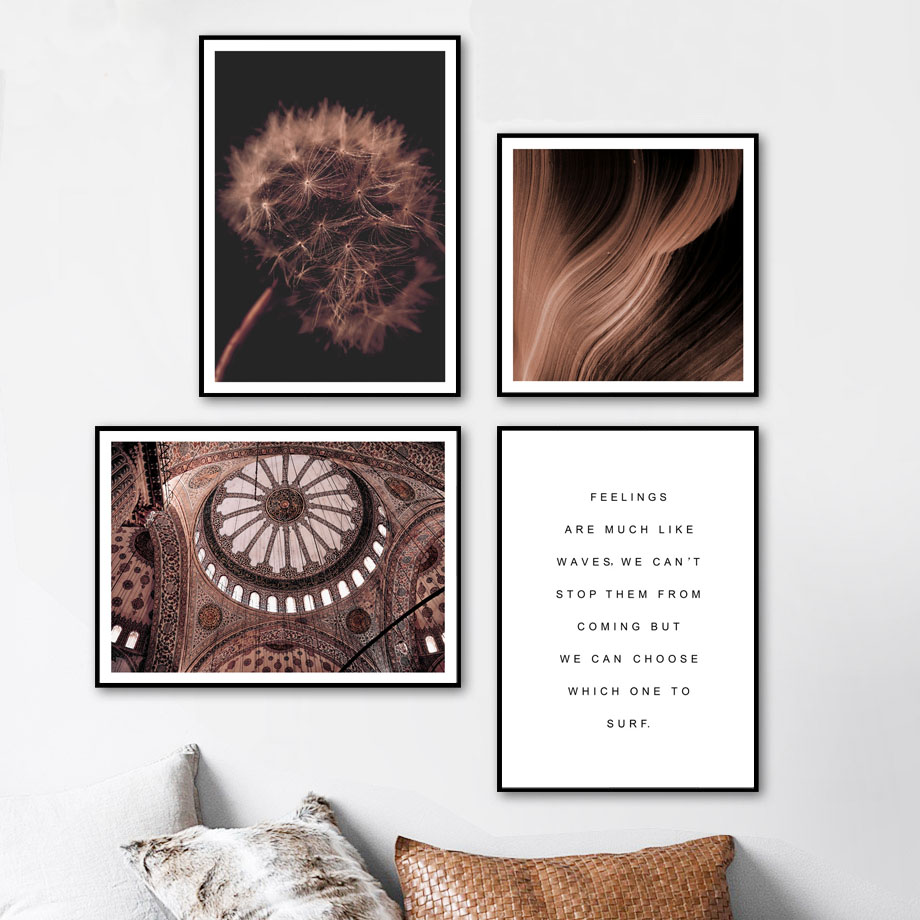Antelope Canyon Mountain Dandelion Street Wall Art Canvas Painting Nordic Posters And Prints Pictures For Living Room Decor