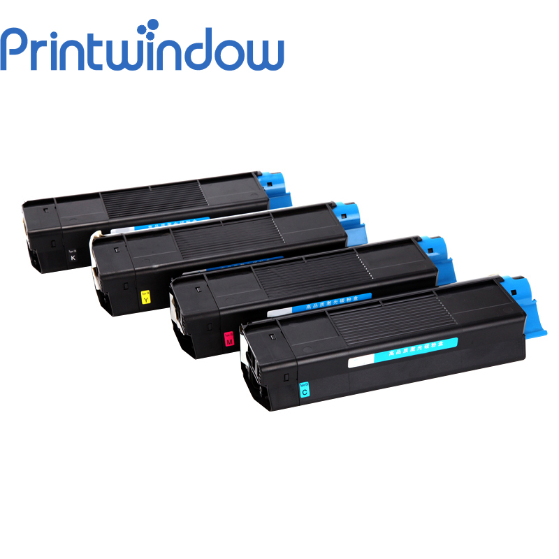 Printwindow Compatible Toner Cartridge for OKI 5510MFP/5450N/5250DN/5540MFP 4 pack high quality toner cartridge oki mc860 mc861 c860 c861 color printer full compatible 44059212 44059211 44059210 44059209