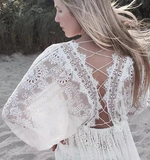 Withered 2018summer font b dress b font women font b vintage b font lace embroidery white