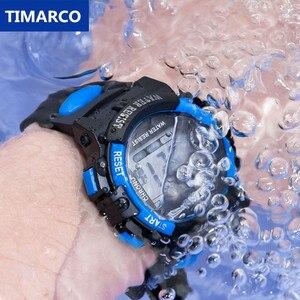Новые модные детские спортивные наручные часы для мальчиков, браслет со светодиодным дисплеем, силиконовые часы, детские электронные часы ...