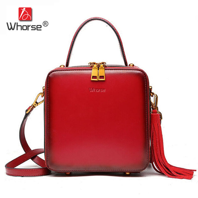 Fashion Tassel Mini Flap Bag Genuine Leather Ladies Small Handbag Double Zipper Crossbody Shoulder Messenger Bags For Lady W0896 miyahouse fashion colorful tassel design messenger bag women double zipper small shoulder bag female canvas lady flap bag