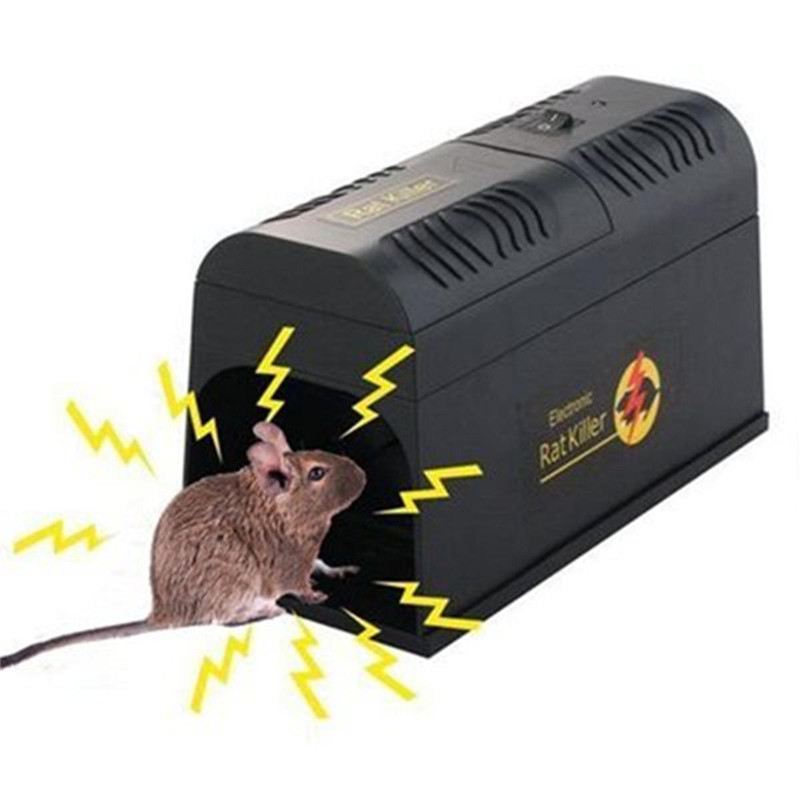 Kitchen Electric Rat Mouse Traps Mice Killer Mousetrap Reusable Rodent Catcher Hige Voltage Animal Pest Control Killing Trap
