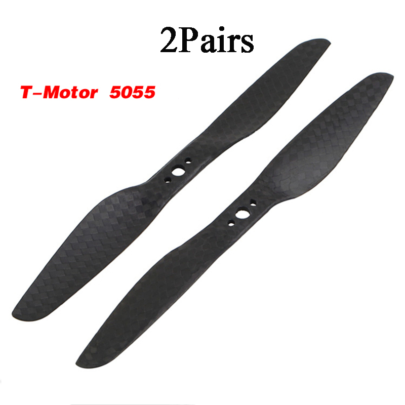 2Pairs T-Motor <font><b>5055</b></font> FPV Propellers Carbon Fiber Props 2-blade Paddles Propeller W/3 Mounting Holes For FPV Multicopter Dron image