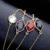 Moda Geométrica Collares Largos Colgantes de Piedra Sintética Elegante Suéter Cadena de Accesorios de Joyería de La Vendimia Regalos de Año Nuevo
