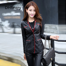 women's PU leather jacket spring and autumn suit collar slim women black motorcycle leather jackets plus size M-5XL 928