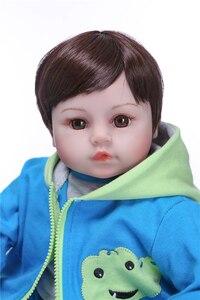 Image 5 - Npk 19handmadeシリコーンビニール愛らしいリアルな幼児bonecas少年子供ベベ人形リボーンmeninaデシリコーン