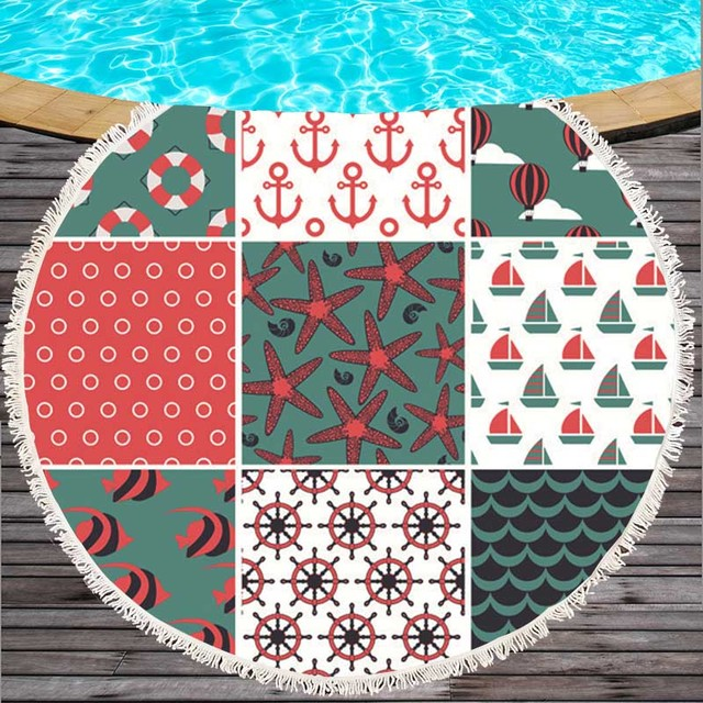 Patchwork Style Microfiber Beach Towel 5