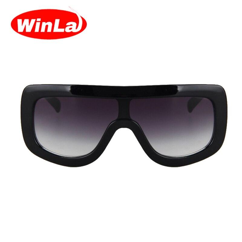 ab4f6bc8d2 WINLA Únicos Más Nuevos de Las Mujeres Gafas de Sol Cuadradas Gafas  Vendimia Grandes Gafas de Marco Gafas de Sol Acetato Tonos Gradiente  Anteojos UV400 ...