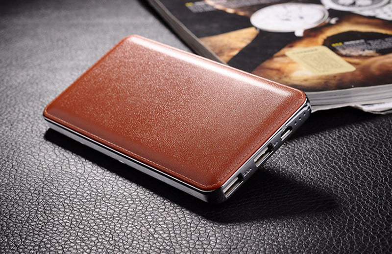Brown New Mobile Power Bank 12000mAh powerbank portable charger external Battery 12000 mAH mobile phone charger
