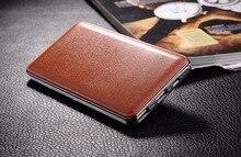Marrón Nuevo Banco Móvil 12000 mAh powerbank cargador portátil de Batería externa 12000 mAH cargador de teléfono móvil poderes de Copia de seguridad