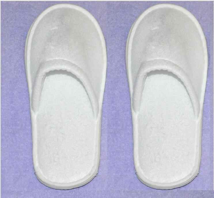 5 Pairs Hotel Spa Usa E Getta Pantofole A Casa per Gli Ospiti Pantofole Bianco Blu Scarpe Dropshipping