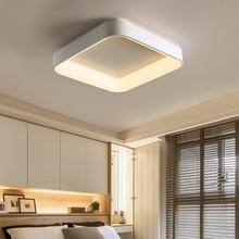 Square Gray/White led chandeliers ceiling for bed room lights plafondlamp chandelier home indoor modern lighting