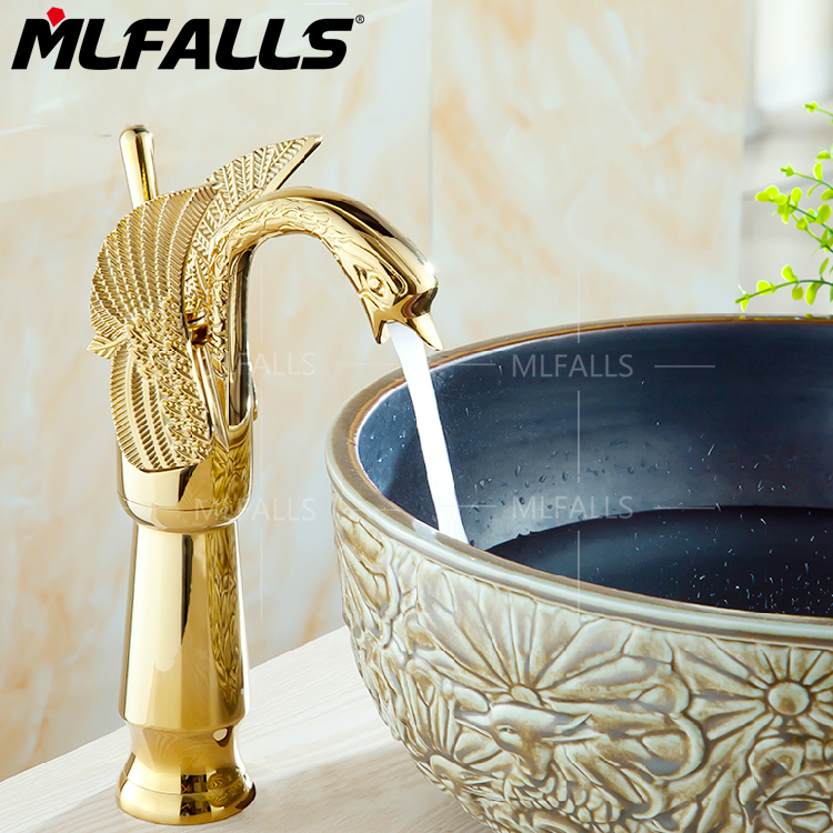 European style   golden Single Handle One Hole in Ti-PVD Bathroom Sink FaucetEuropean style   golden Single Handle One Hole in Ti-PVD Bathroom Sink Faucet