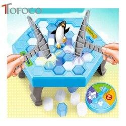 Tofoco الجليد كسر المطرقة البطريق لعب العظمى الأسرة متعة لعبة اللعب لطيف حفظ الحيوان لعب للأطفال