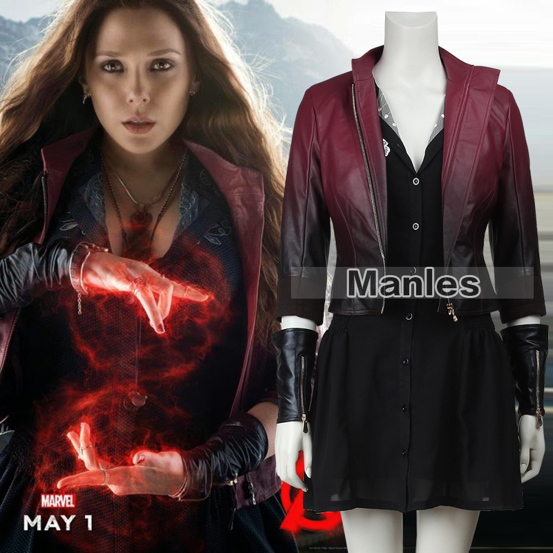 The Avengers 2 Age of Ultron Scarlet Witch Cosplay Costume Scarlet Witch Wanda Maximoff Costume Women Halloween Clothing Women