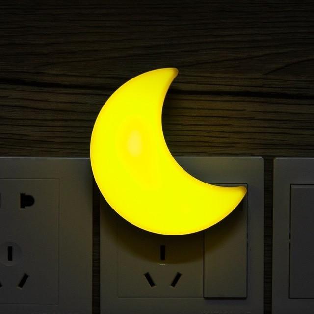 T20 Sensor Control Mini Star Moon LED Night Light Dark Children Bedroom Bedside Kids Cloud Lamp EU/US Baby Sleeping Nightlight