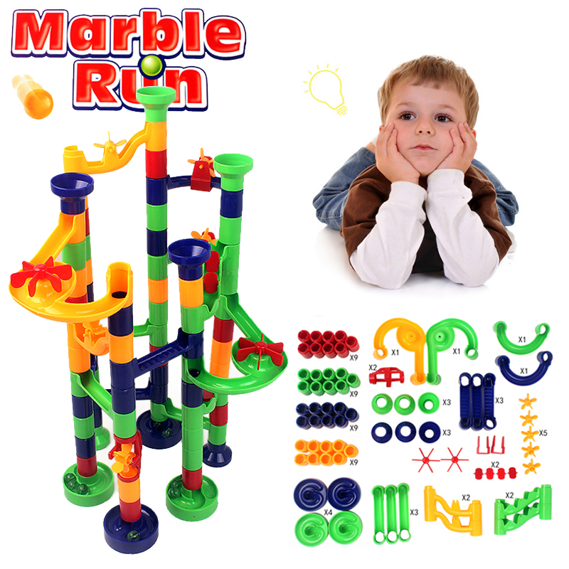 Finger Rock Construction Marble Run Board Games Toys DIY Building Blocks Track Race Maze Balls Toys Christmas Gifts For Children