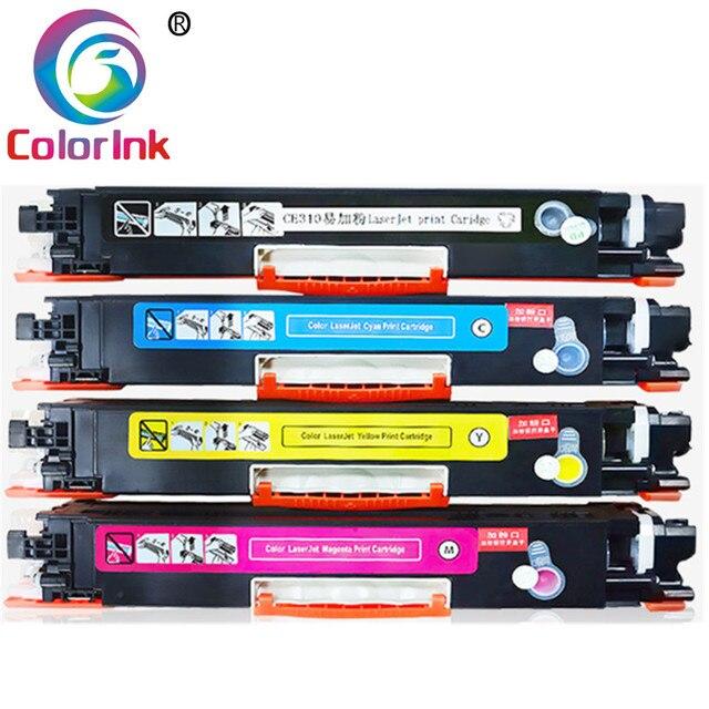 ColorInk cartucho de tóner para HP 126A CE310A 310a CE311A 311a CE312A 312a CE313A 313a LaserJet Pro CP1025 CP1025nw 1025, 4 Uds.