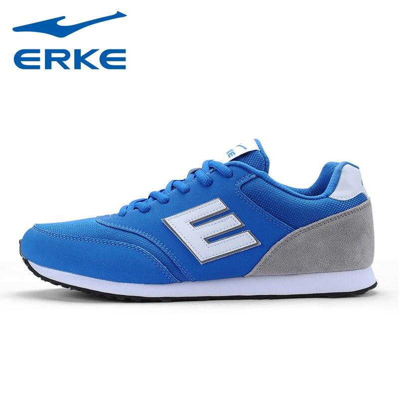 Brand ERKE Mens Mesh Breathable Jogging Running Shoes Sneakers For Men Sport Running Sneaker Shoes Man Runners   EUR 39--44
