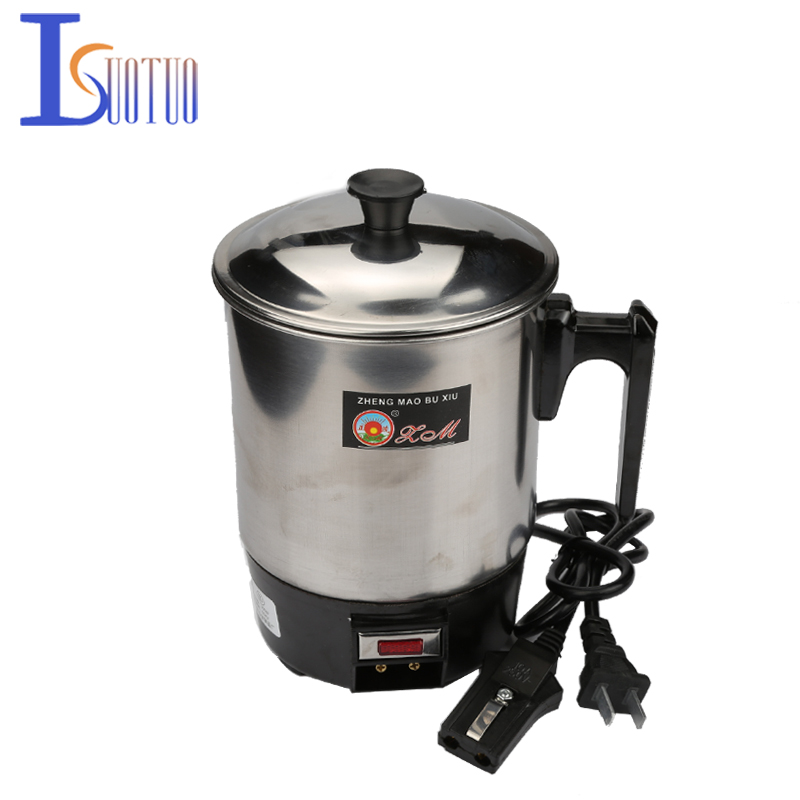 1.0L 350W 220V Food-grade Stainless Steel 304 Conjoined Twin Portable Type Electric Cup,Prevent Dry Burn Electric Heat Pan