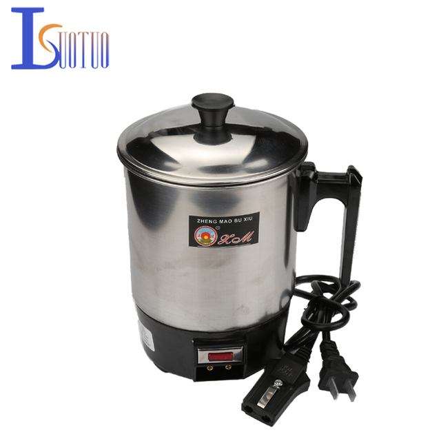 1.0L 350W 220V Food grade Stainless Steel 304 Conjoined Twin Portable type Electric Cup,Prevent Dry Burn Electric Heat Pan