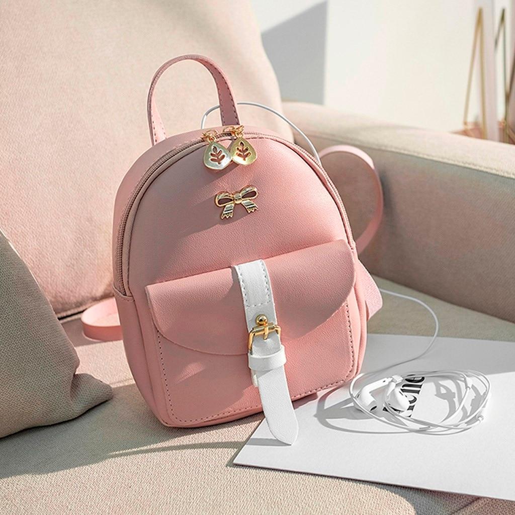 HTB15P0 NjDpK1RjSZFrq6y78VXaf Convenient fashion Travel Fashion Lady Shoulders Small Backpack Letter Purse Mobile Phone mochilas Canta