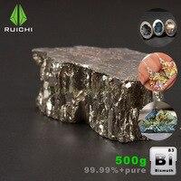 500g bismuto metal bismuto lingote bi cristais de alta pureza 99.99% frete grátis