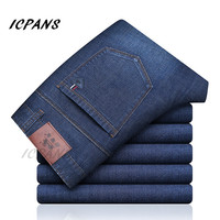 ICPANS Denim Jeans Men Stretch Clasic Basic Black Mens Jeans Regular Fit Casual Pants Male Jeans homme 2019 Autumn Big Sizes 42