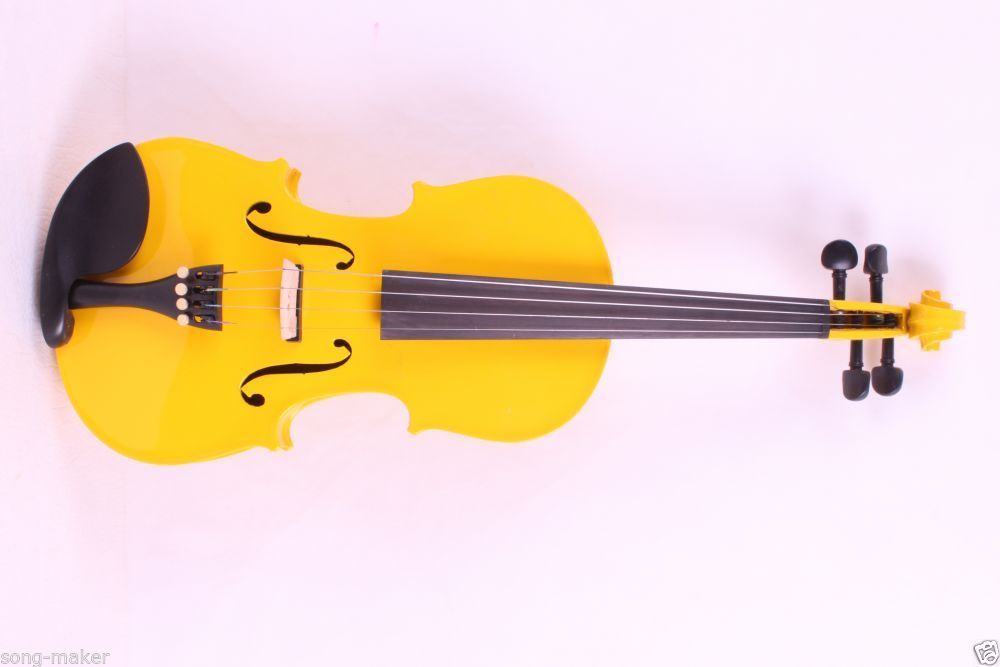 ONE 4 string 4/4 Violin Electric Violin Acoustic Violin Maple wood Spruce wood Big jack  YELLOW color one red 4 string 4 4 violin electric violin acoustic violin maple wood spruce wood big jack color