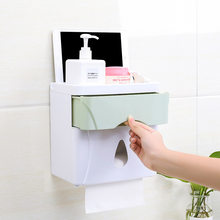 Double Layer Kertas Toilet Pemegang Tahan Air Kotak Penyimpanan Wall Mounted Toilet Roll Dispenser Portabel Kertas Toilet Pemegang(China)