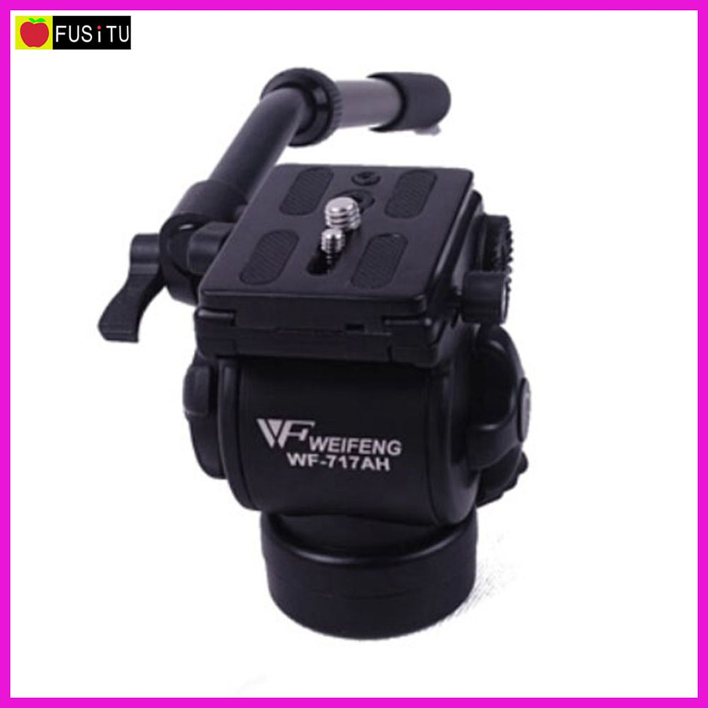 WEIFENG WF-717AH Photography Video DSLR Camcorder Fluid Tripod Head Drag with Handle