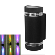Modern Outdoor Waterproof LED Wall Lamps AC80-265V With 2*4W LED Bulbs IP65 Aluminum Courtyard Garden Porch Corridor Lights