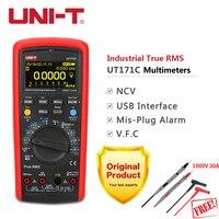 UNI-T UT171C Промышленные Цифровые мультиметры True RMS 1000 В Авто Диапазон допуска сопротивление тестер USB НТС температура