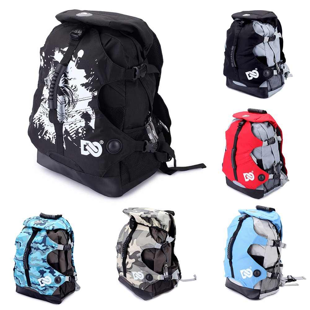 2019 New Adult Roller Skate Shoes Bag Portable Waterproof Nylon Canvas Backpack 20-35l Big Capacity Bag