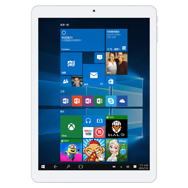 Teclast X98 Plus II Tablet PC  9.7 inch Windows 10 + Android 5.1 Intel Cherry Trail Z8300  Quad Core 1.44GHz 4GB RAM 64GB ROM bben z10 tablets windows 10 intel cherry trail z8350 quad core 4gb ram 64gb rom hdmi tablet pcs